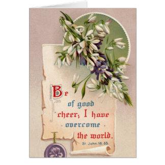 Esté de buena alegría tarjeta de felicitación