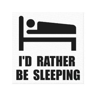 Esté durmiendo bastante impresión en lona