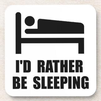 Esté durmiendo bastante posavasos