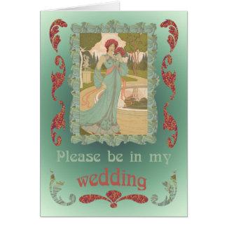 Esté en mi boda tarjeta de felicitación