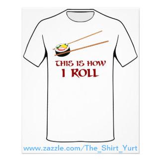 Éste es cómo rollo de sushi de I Folleto 11,4 X 14,2 Cm