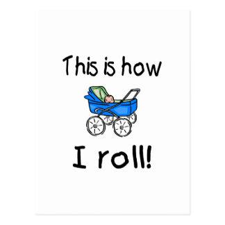 Éste es cómo ruedo (el cochecillo) postal