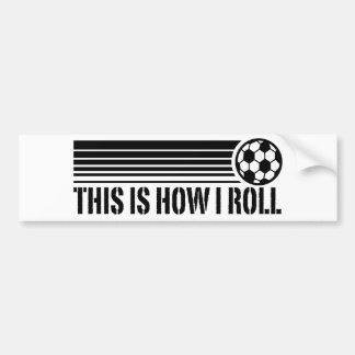 Éste es cómo ruedo fútbol pegatina para coche