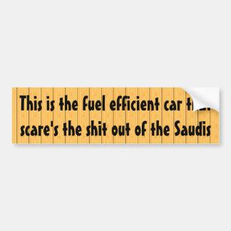 Éste es el coche económico en combustible… pegatina para coche