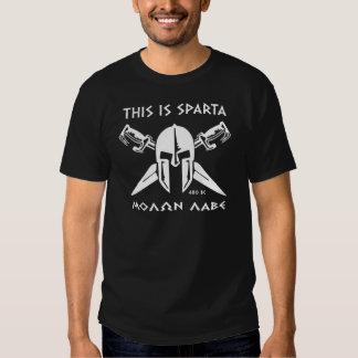 Éste es el lave de Sparta - de Molon (blanco) Camiseta