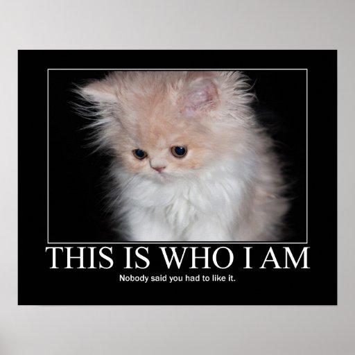 Éste es quién soy ilustraciones del gatito poster