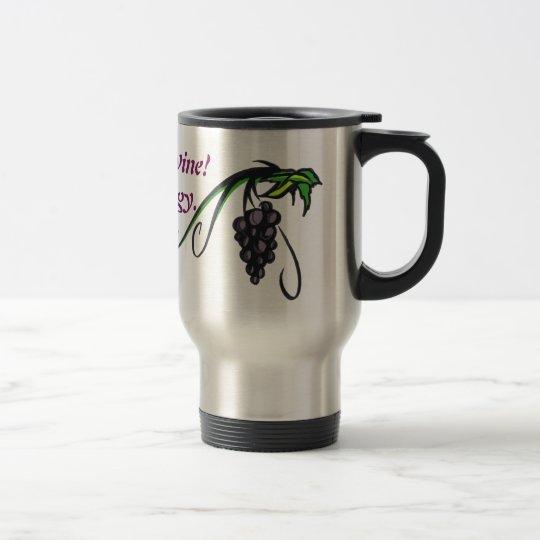 Éste es sí vaso del café del vino taza de viaje