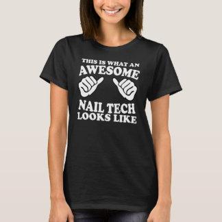 éste es un qué técnico impresionante del clavo camiseta