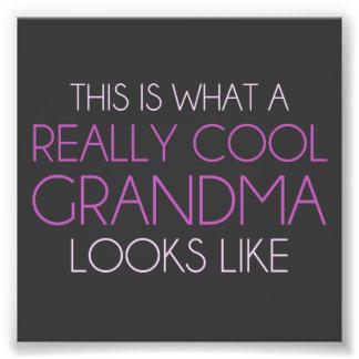 Éste es una qué abuela realmente fresca parece impresiones fotográficas