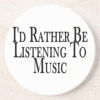 Esté escuchando bastante la música posavasos diseño