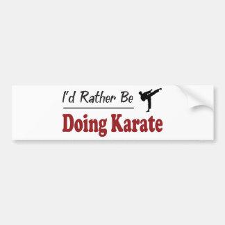 Esté haciendo bastante karate pegatina para coche