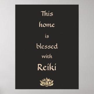 Este hogar se bendice con Reiki Póster