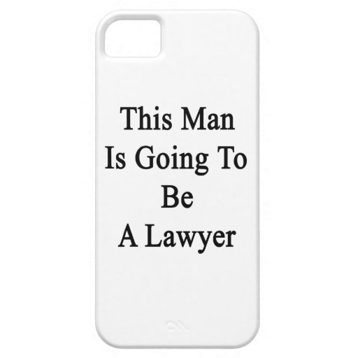 Este hombre va a ser abogado iPhone 5 Case-Mate cobertura