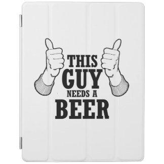 Este individuo necesita una cerveza - humor del cubierta de iPad