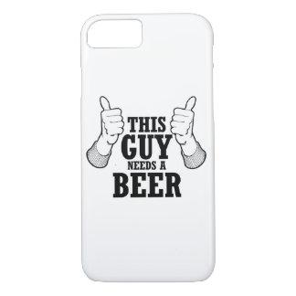 Este individuo necesita una cerveza - humor del funda iPhone 7
