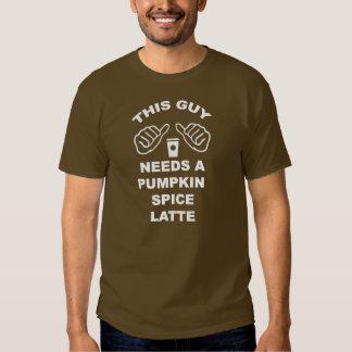 Este individuo necesita una especia Latte de la Camisetas