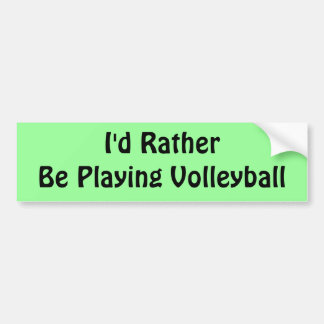 Esté jugando bastante a voleibol pegatina para coche