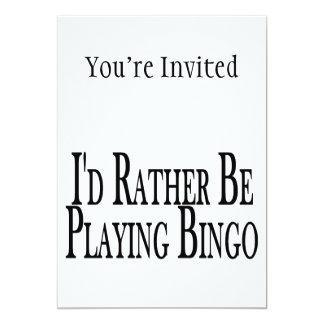 esté jugando bastante bingo invitación 12,7 x 17,8 cm