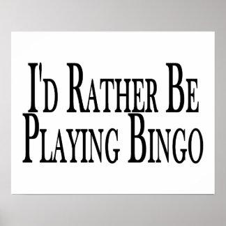 esté jugando bastante bingo póster