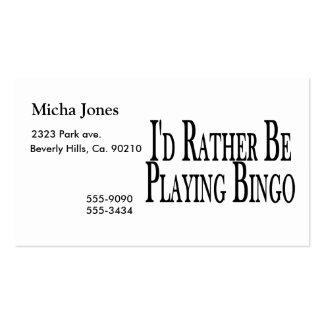 esté jugando bastante bingo plantillas de tarjetas de visita