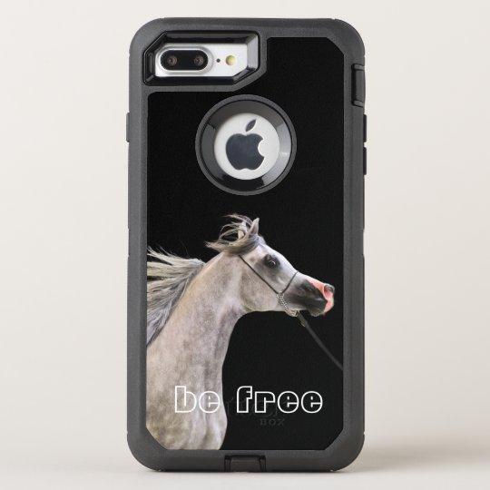 esté libre. colección del caballo. gris árabe funda OtterBox defender para iPhone 7 plus
