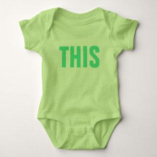 ESTE lindo divertido del humor social de los Body Para Bebé