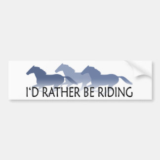 Esté montando bastante - el decir del caballo pegatina para coche