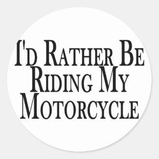 Esté montando bastante mi motocicleta pegatina redonda