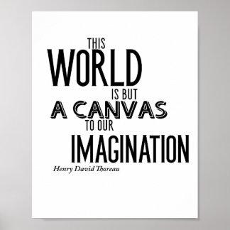 Este mundo está solamente una lona a nuestra póster