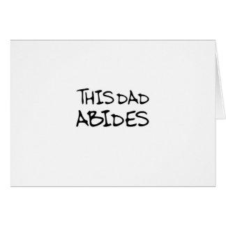 Este papá respeta tarjeta de felicitación
