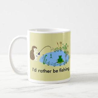 Esté pescando bastante la taza del erizo