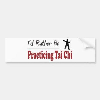 Esté practicando bastante ji del Tai Pegatina Para Coche