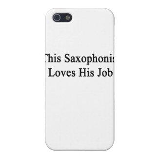 Este saxofonista ama su trabajo iPhone 5 funda