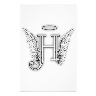 Este último inicial del alfabeto H del ángel se va Papeleria