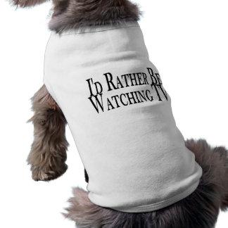 Esté viendo bastante la TV Camiseta Sin Mangas Para Perro