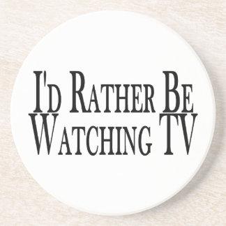 Esté viendo bastante la TV Posavasos Personalizados