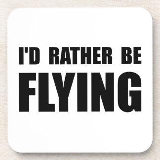 Esté volando bastante posavaso