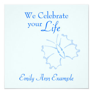 Estela/(viviendo) entierro adaptables -- Mariposa Invitacion Personal