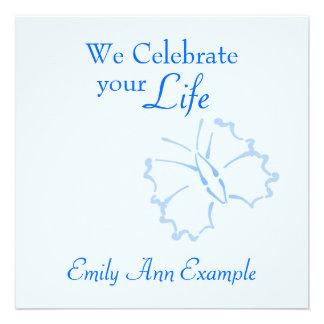 Estela viviendo entierro adaptables -- Mariposa Invitacion Personal