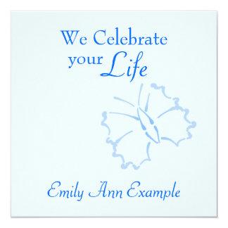 Estela/(viviendo) entierro adaptables -- Mariposa Invitación 13,3 Cm X 13,3cm