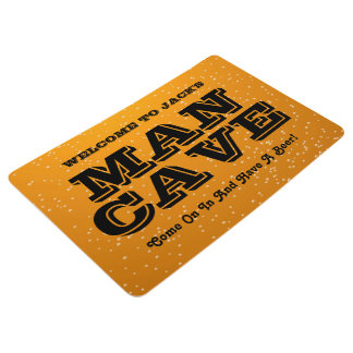 Estera adaptable de la cueva del hombre del tema alfombra
