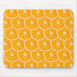 Estera anaranjada del ratón de la rebanada tapete de raton
