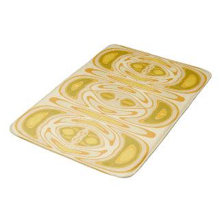 Estera de baño amarilla del modelo - torsión de la