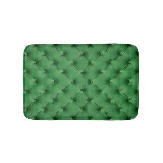 Estera de baño con la impresión del capitone verde