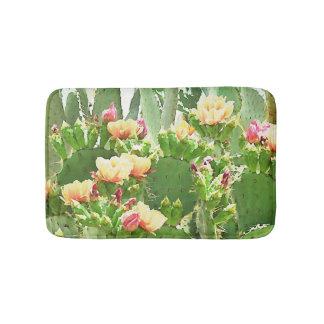 Estera de baño de las floraciones del cactus del