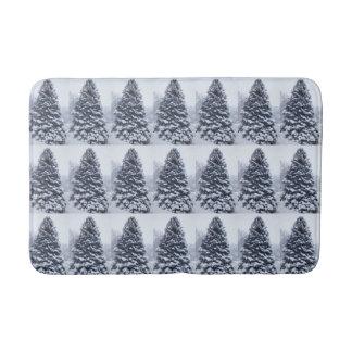 Estera de baño del árbol de pino Nevado