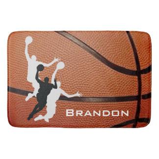 Estera de baño del diseño del baloncesto