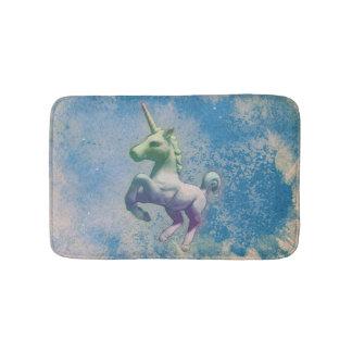 Estera de baño del unicornio (ártico azul)