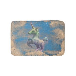 Estera de baño del unicornio (azul de Sandy)