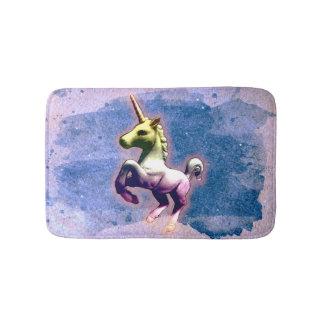 Estera de baño del unicornio (azul quemado)